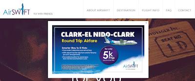Clark-El Nido-Clark Roundtrip Promo for only 5K