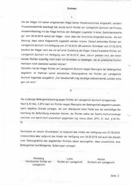 Richter Zschoch am Landgericht Zwickau rastet kurz vor den ...