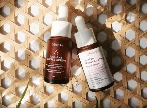 Review : ElsheSkin Active Rejuvinating Night Serum & ElsheSkin Radiant Supple Serum