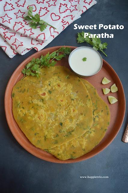 Sweet Potato Paratha Recipe | Sakkarai Velli Kizhangu Paratha Recipe | Healthy Stuffed Paratha Recipe