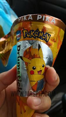 review aiskrim pikachu nestle. harga aiskrim pikachu.