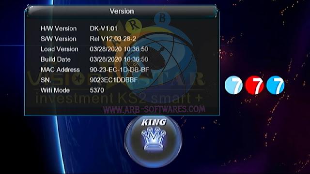 KINGSTAR VISION STAR777 KING PLUS 1507G 1G 8M SEB2 GSHARE PLUS 28 MARCH 2020