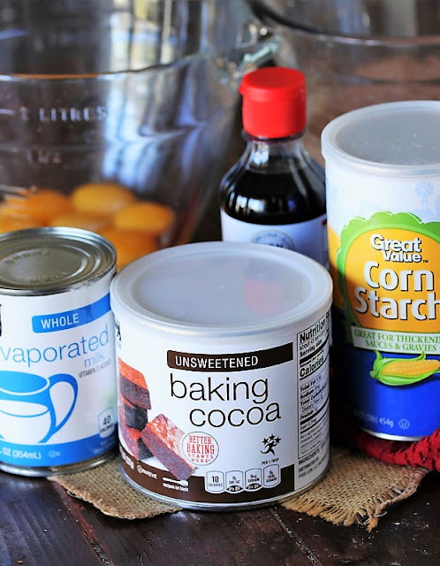 Nanny's Old-Fashioned Chocolate Pie Ingredients Image