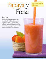 Jugos saludables papaya y fresa