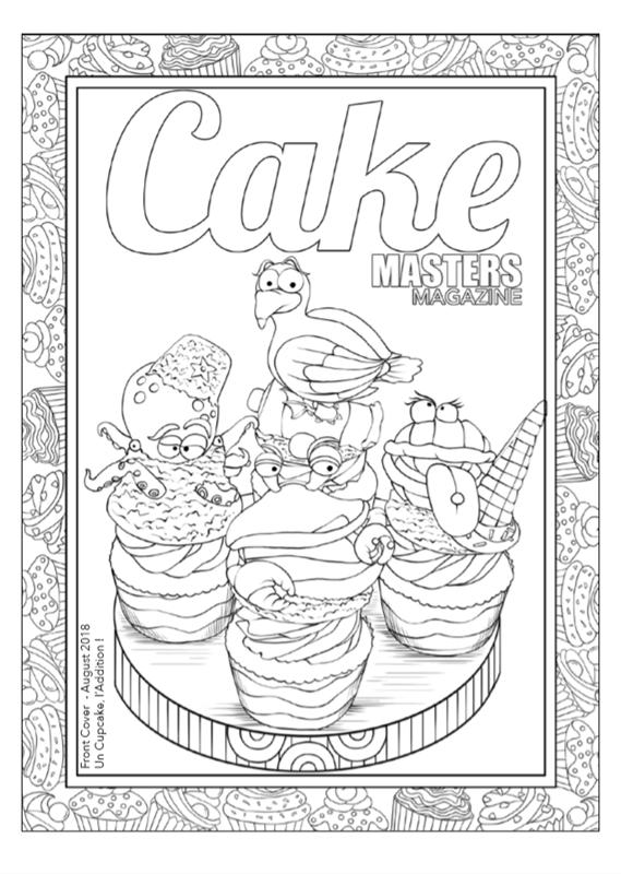 Libro para colorear del Cake Masters Magazine