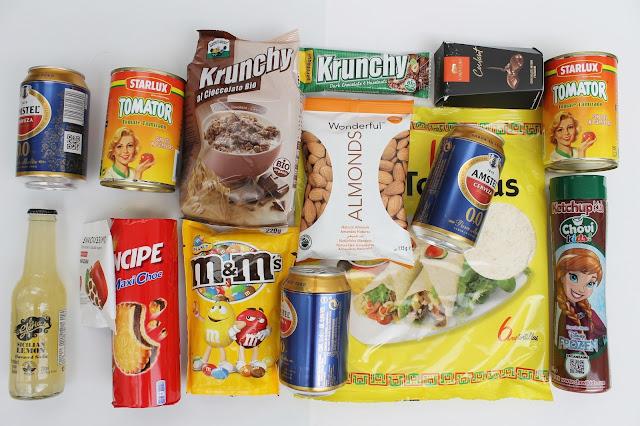 contenido de la caja mensual de comida degustabox