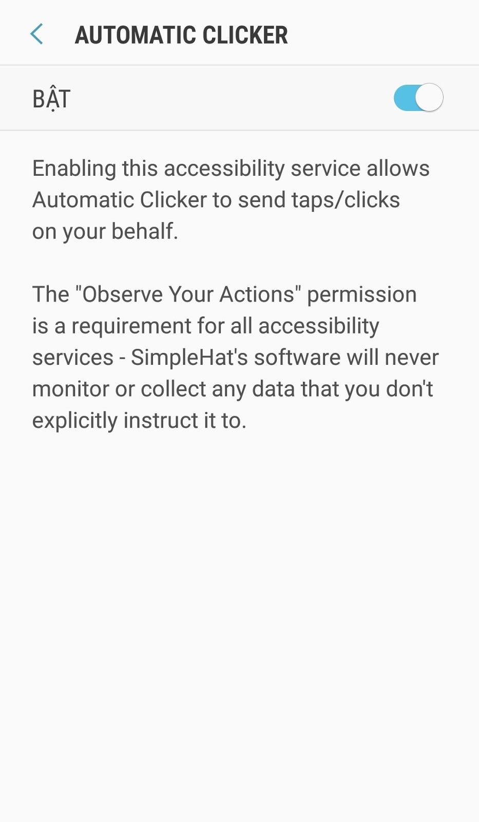 Cấp quyền ứng dụng Android Step 2