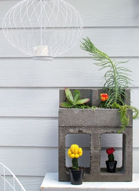 Decorate With Concrete Blocks 1