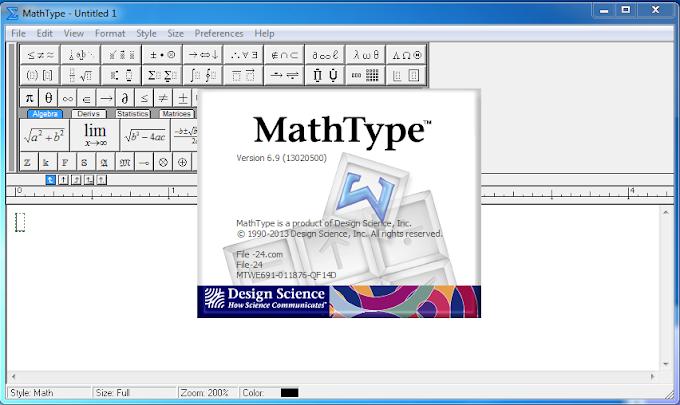 MathType 6.9 -  Phần mềm soạn thảo công thức
