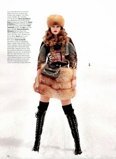 Winter editorial featuring Eniko Mihalik shot by Terry Richardson
