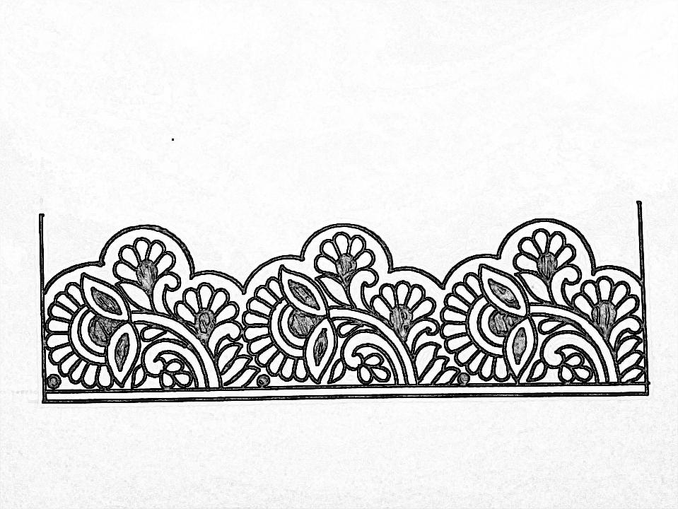 Saree Ka Kinara Sadi Ka Kinara Drawing For Hand Embroidery Designs