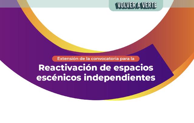 Ganadores de la segunda fase de la Convocatoria para la Reactivación de espacios escénicos independientes.