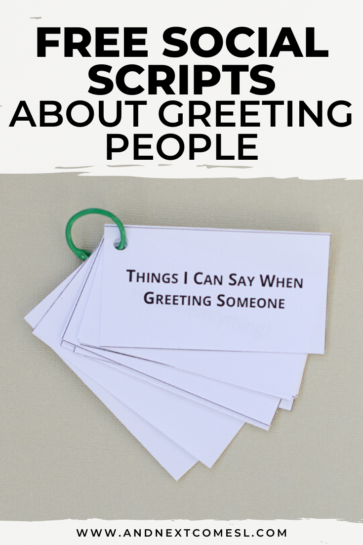 Free social scripts for autism about greeting people