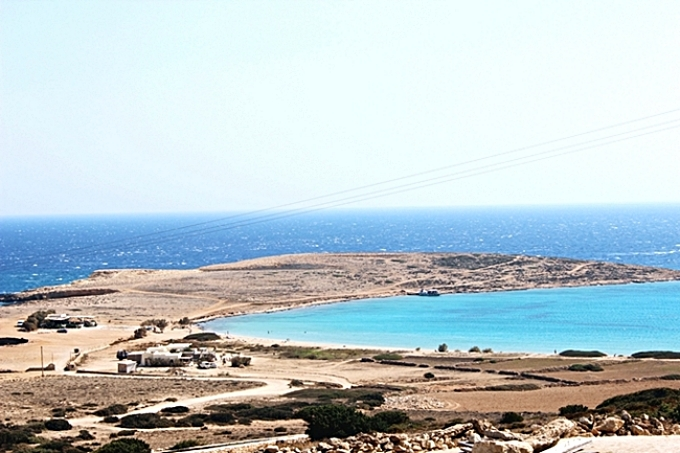Pori beach photos Koufonisia island.Παραλία Πορί Νησί Κουφονήσια.