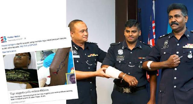 Suspek Tikam 3 Anggota Polis Berjaya Ditahan
