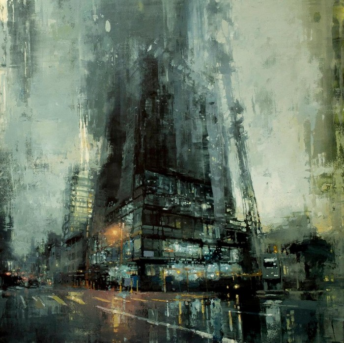 Таинственные сцены городских улиц