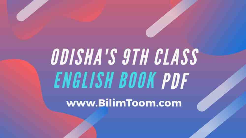 Odisha's 9th Class English Book PDF Download