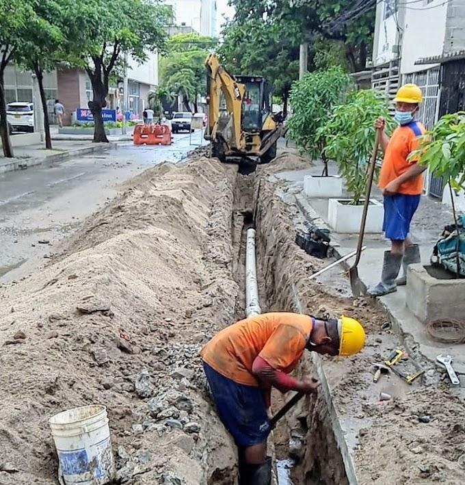 Essmar instala redes de acueducto en el barrio Bellavista