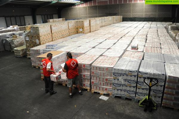Cruz Roja en Canarias distribuye cerca de un millón de kilos de alimentos