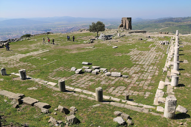 The remains of royal palaces in Pergamon, Turkey
