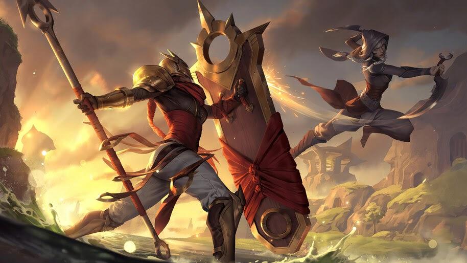 Solari Shieldbearer, Targon, Legends of Runeterra, 4K, #5.2740