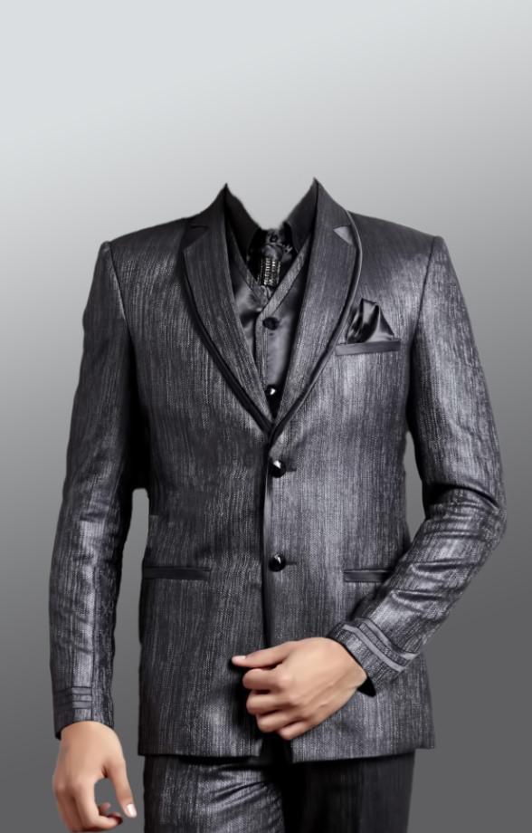 Download PSD men's suit uniform in gray
