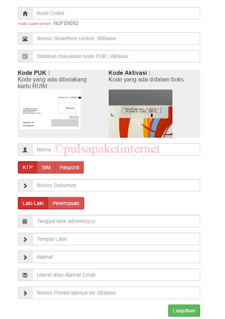 form pendaftaran online smartfren