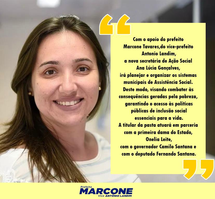 Com apoio do prefeito Marcone Tavares e do Governo do Estado, nova secretária de ação social de Aurora afirma que seu trabalho será voltado para a garantia dos direitos dos menos favorecidos