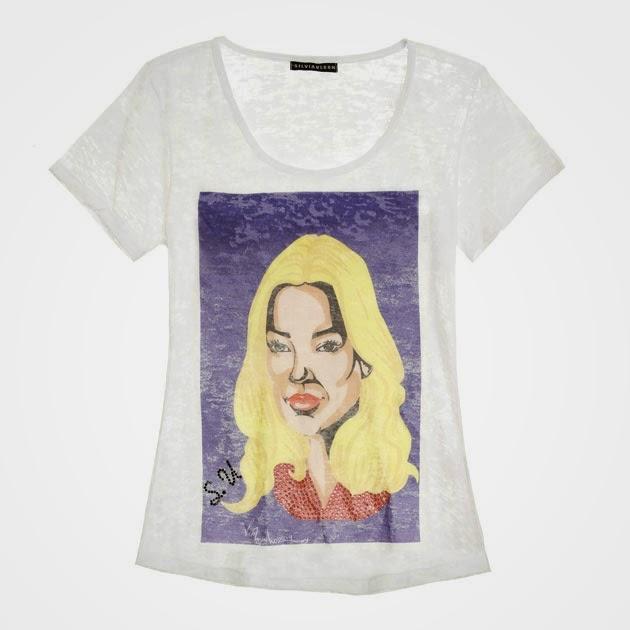 Quer ter a camiseta de seu designer favorito  Silvia Ulson esta lançando  uma coleção de camisetas com caricaturas de grandes ícones do mundo da moda. b5e30cfb0a8de