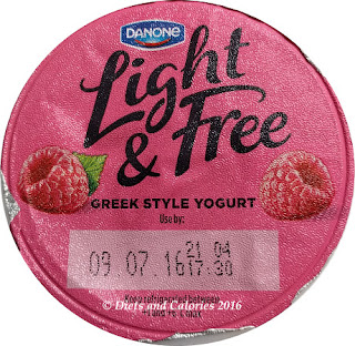 Danone Light & Free Raspberry Greek Style Yogurt