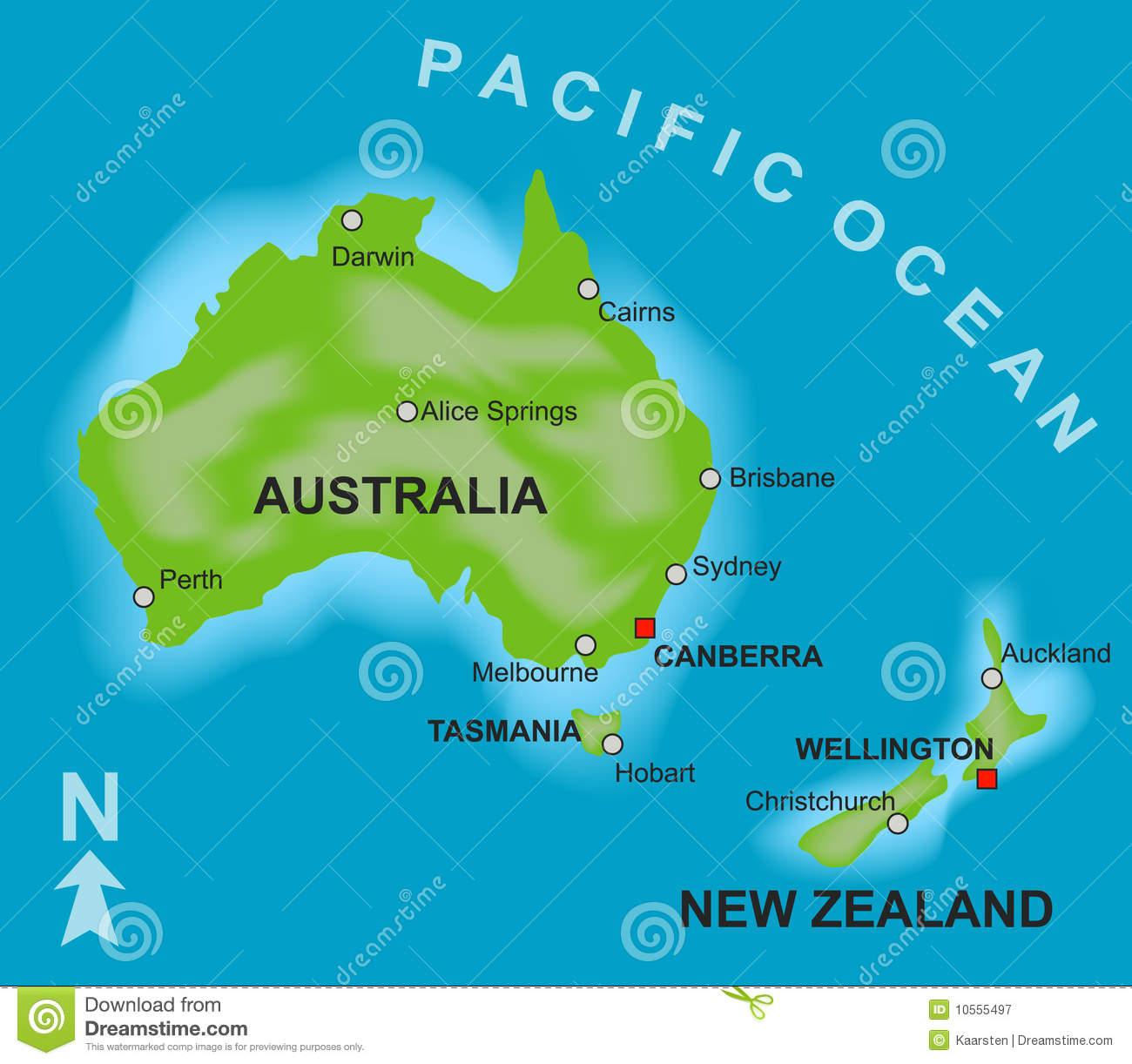 mapa australia e nova zelandia Austrália e Nova Zelândia celebram acordo de livre comércio  mapa australia e nova zelandia