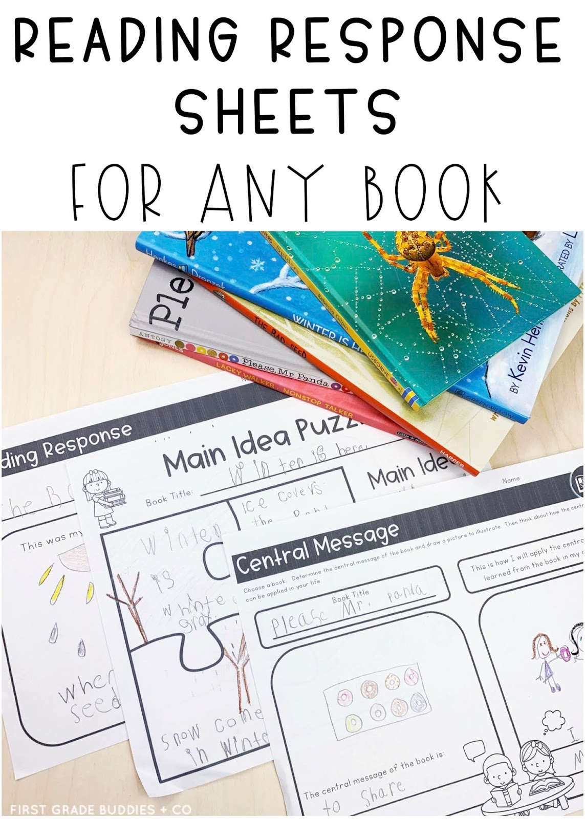 medium resolution of Reading Comprehension Response Sheets for ANY BOOK!   First Grade Buddies