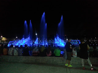 Persembahan Pancutan air berirama  Taman Perdana Hone Place Kota Kinabalu