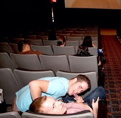 gay public sex, sucking cock in movie theater, cocksucking, dick, exhib, Robot Jack