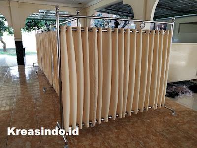 Hijab Masjid Stainless pesanan Mako Lantamal III untuk Masjid Miftahul Jannah di Pademangan Jakarta
