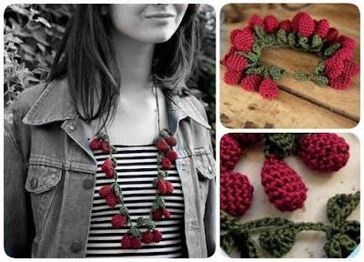Collar cerezas a crochet instrucciones