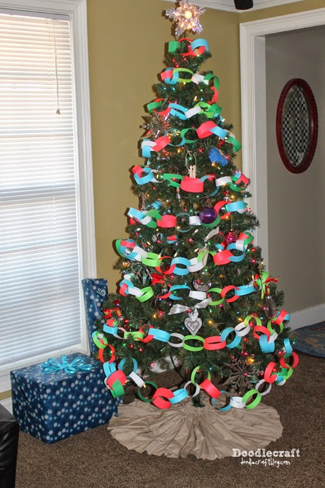 christmas tree paper chain