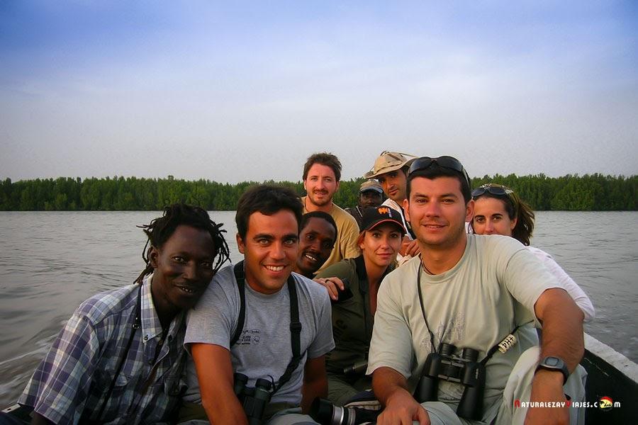 Navegando en el río Gambia