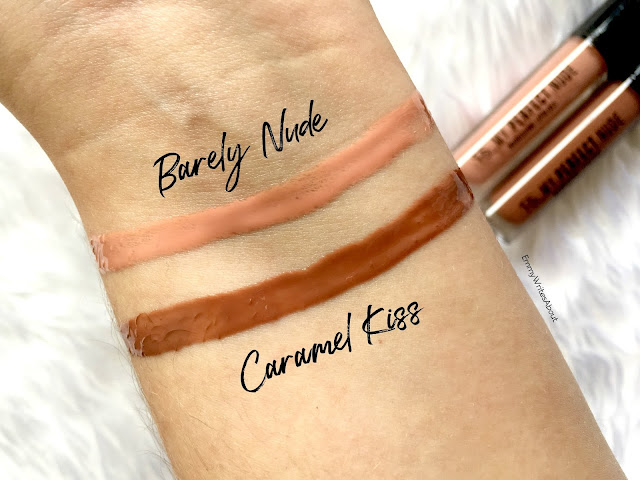 Primark My Perfect Nude Nourishing Lipgloss Swatches Caramel Kiss Barely Nude