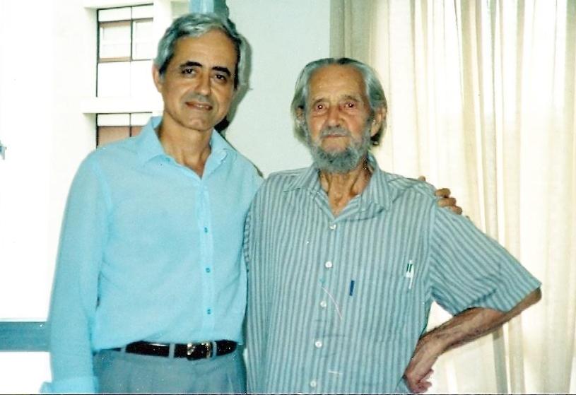 O roteirista Nikolaos e o ator suíço Wirtz (em foto de 1991). Foto: acervo Nikolaos Argyrios Mitsiotis