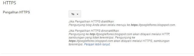 Cara Gunakan HTTPS Di Blogspot