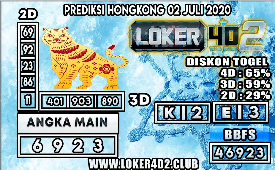 PREDIKSI TOGEL HONGKONG   LOKER4D2 02 JULI 2020
