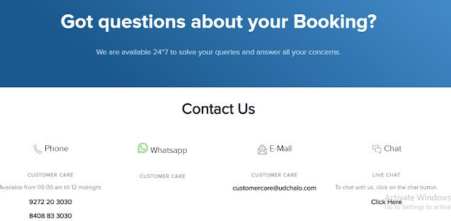 Udchalo Refund Customer Care Number ~ Helpline Number