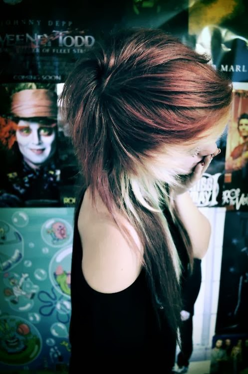 Scene Girl With Brown Hair Tumblr