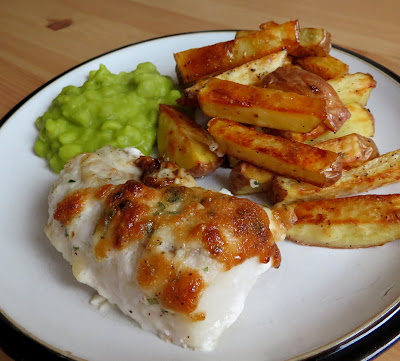 Garlic Herbed Cod & Chips