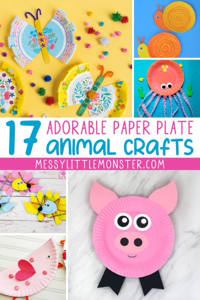 Adorable paper plate animal crafts for kids