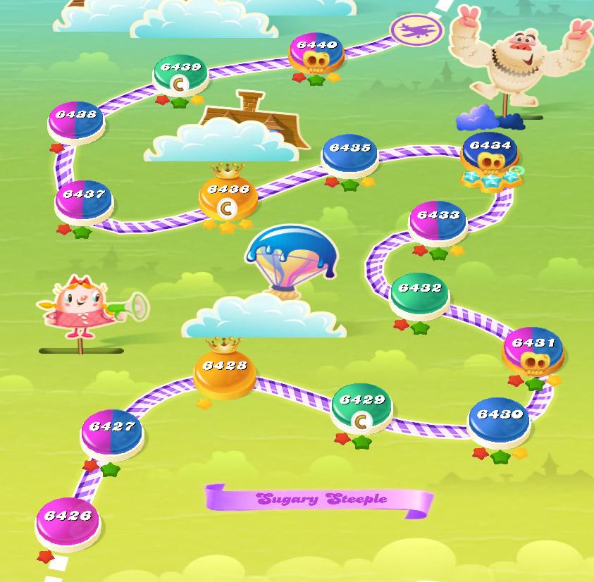Candy Crush Saga level 6426-6440