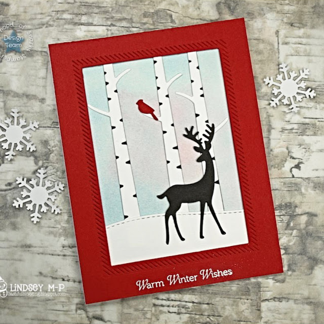 Sunny Studio Stamps: Rustic Winter Dies Customer Card by Lindsey M-P