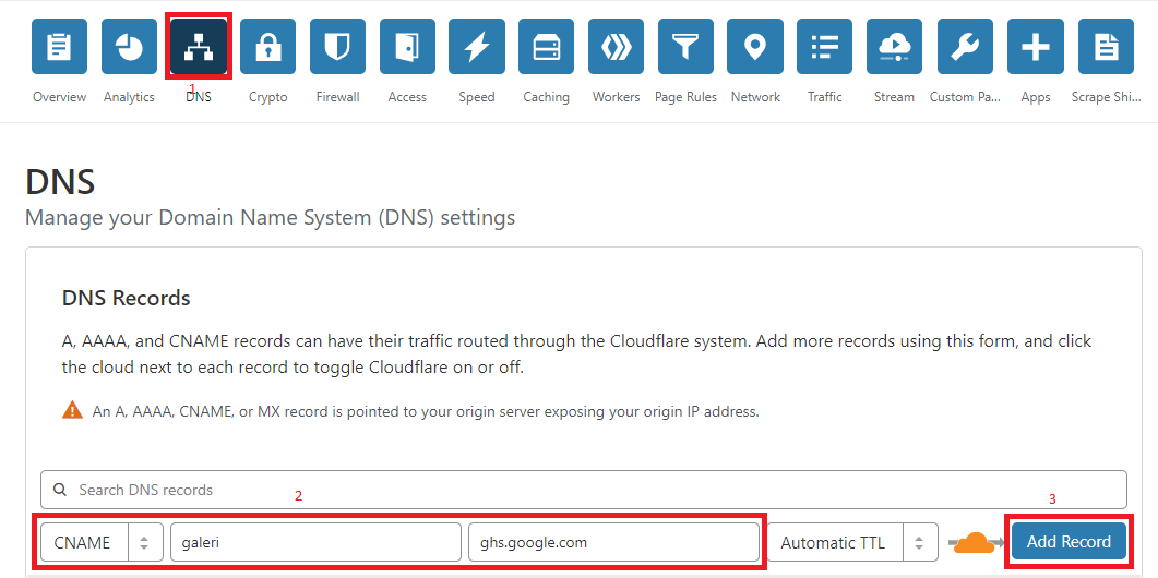 Cara Memembuat Subdomain Dari Cloudflare ke Blogger
