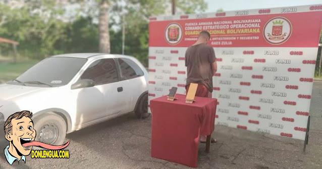 El Peluche quedó detenido por extorsionar comerciantes en Maracaibo